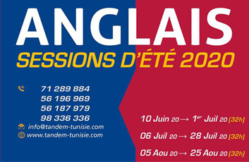Cours Anglais Session 2020